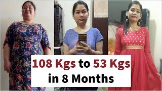 How She Lost 55 Kgs in 8 Months | Weight Loss Journey, Story & Motivation Tips | Fat to Fab  Sum