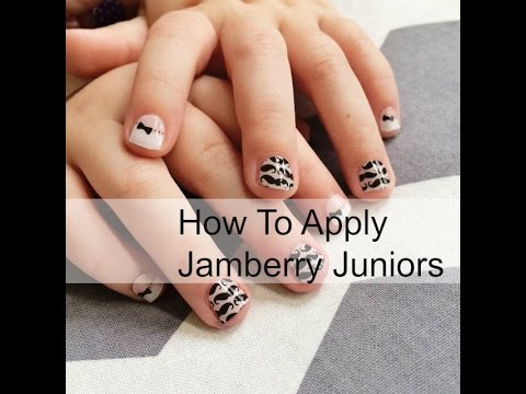 How To Apply Jamberry Juniors On A Toddler Youtube