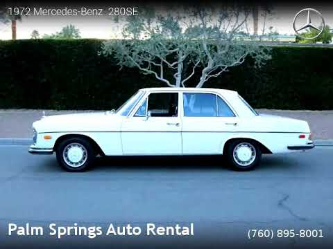 Mercedes Benz 280SE   Palm Springs Auto Rental