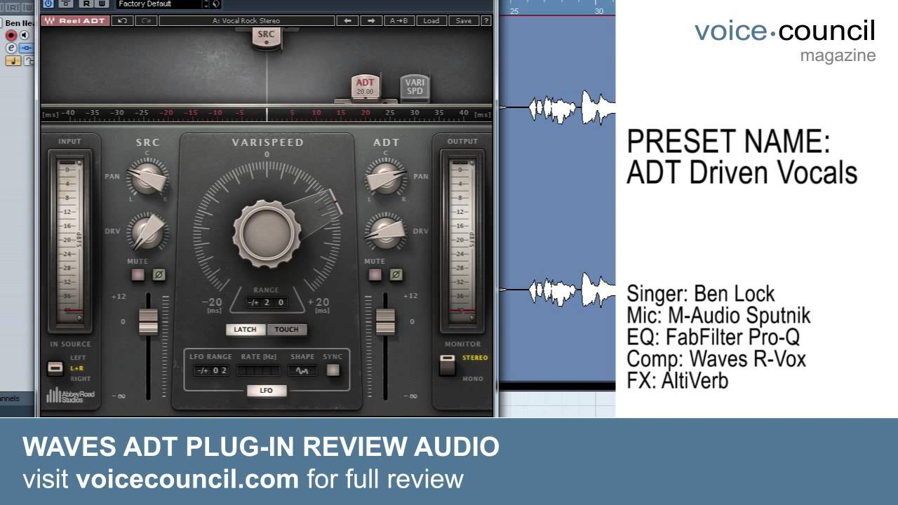 Waves Abbey Road ADT Plug-In Audio Demo