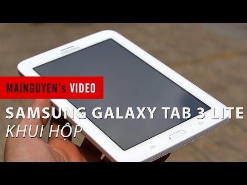 Khui hộp máy tính bảng Samsung Galaxy Tab 3 Lite 3G T111 - www.mainguyen.vn