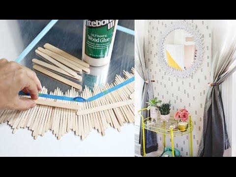 أفكار مدهشة | طريقة سهلة لتزيين مرايتك عشان تضيفي لمسة جمالية في البيت | Creative Idea