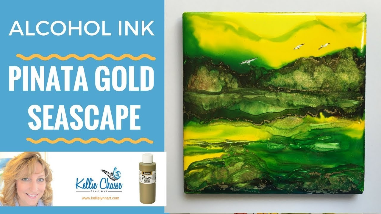 have you tried alcohol ink pinata gold youtube