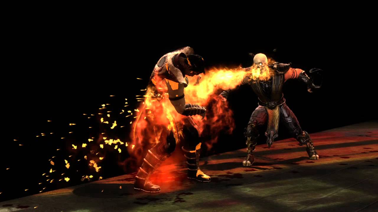 Mortal Kombat 9 Komplete Edition Scorpion Fatality 3 Toasty