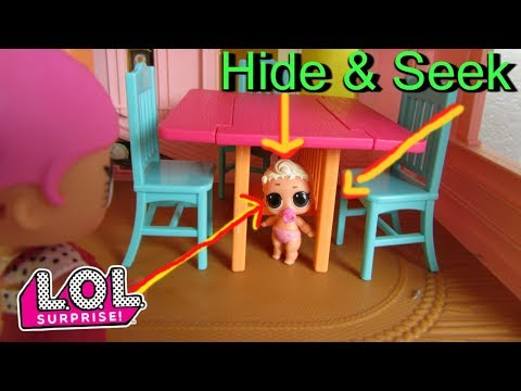 LOL SURPRISE DOLLS Play HIDE AND SEEK Under Table! Lol Surprise Doll Skit