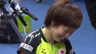 【世界卓球2015】準々決勝 混合ダブルス吉村真晴・石川佳純 メダル確定シーン