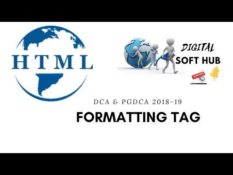 Formatting Tag In HTML 2018 For DCA & PGDCA & O Level