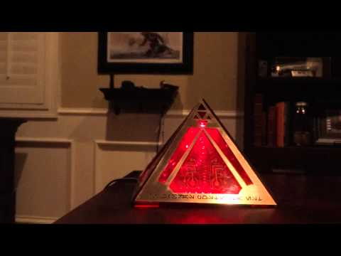 Star Wars Sith Holocron with Holographic Light Flickering
