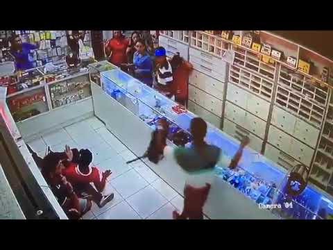 Momento do assalto que resultou na morte de jovem de 18 anos no Alecrim