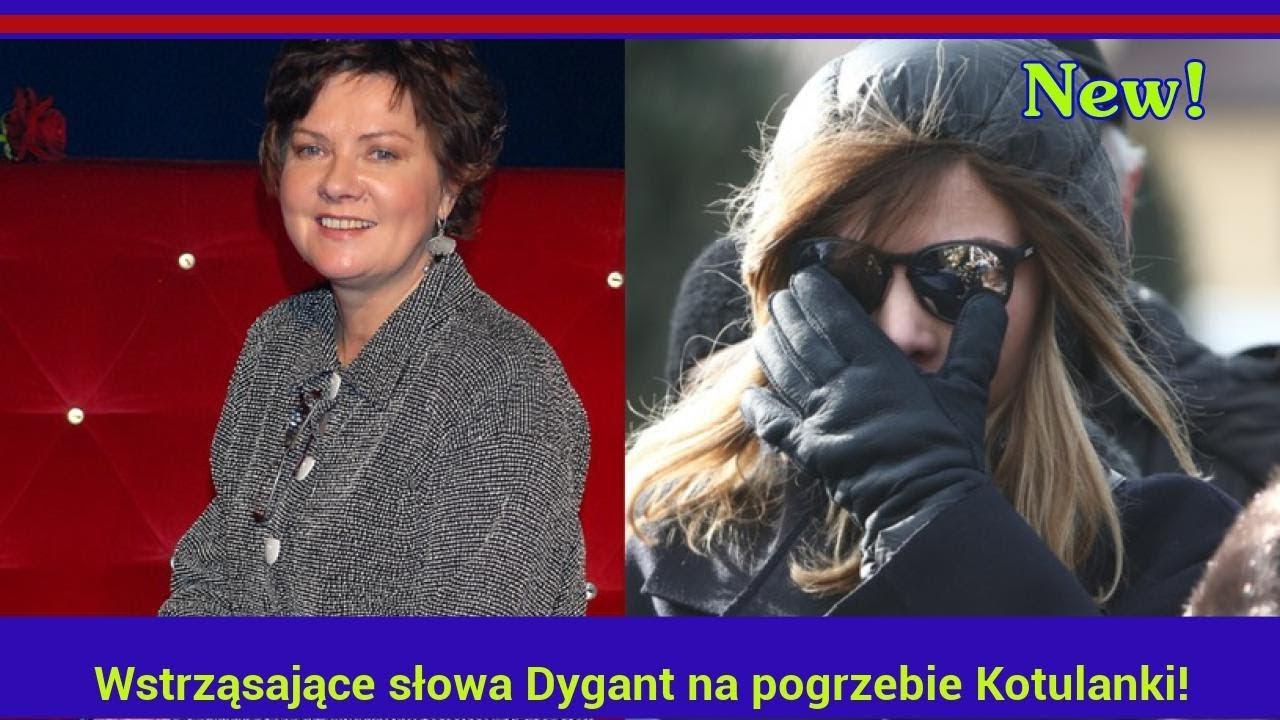 Wstrząsające słowa Dygant na pogrzebie Kotulanki!