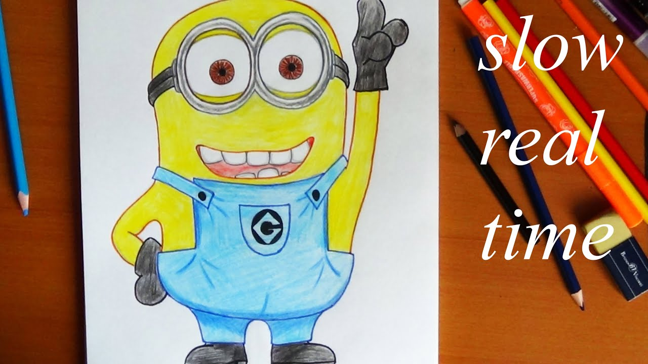 How to draw Minion REAL TIME - YouTube