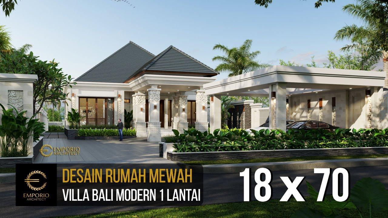 Desain Rumah Villa Bali Modern Milik Bapak Ivan Dengan Lebar 18m Dan Panjang 70m Youtube