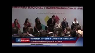 Michoacán Listo Para La Olimpiada Nacional 2016. Aureoles Abandera Delegación De 293 Atletas