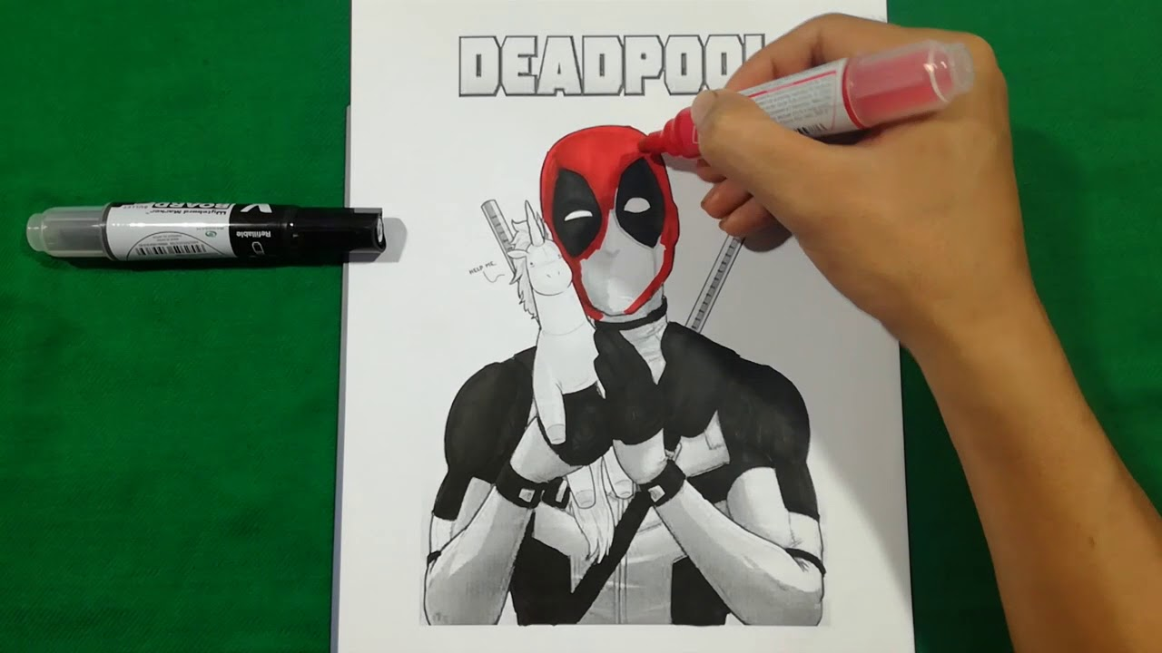 Deadpool With His Pony Coloring Pages Sailany Coloring Kids Youtube