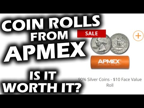 What You Get When You BUY SILVER COIN ROLLS FROM APMEX Coin Roll Hunting Quarters and Dime Rolls