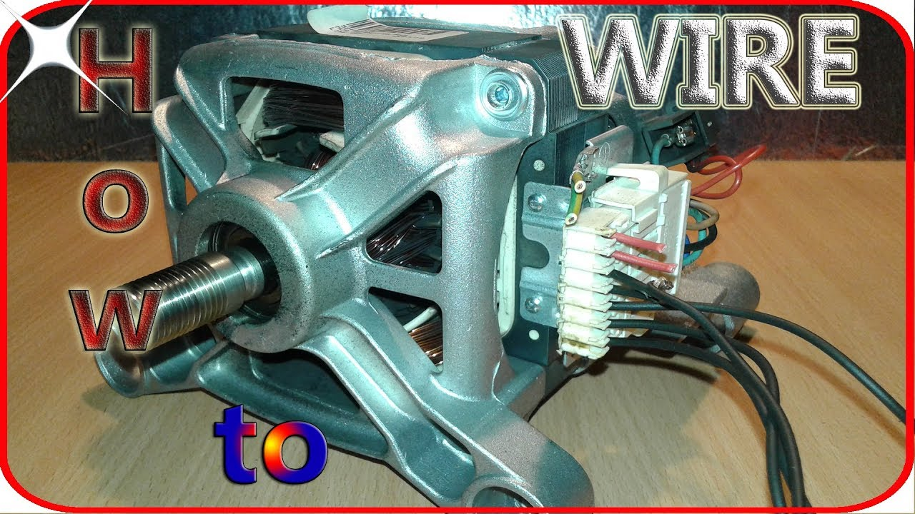 washing machine motor wiring basics youtubewashing machine motor wiring basics