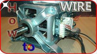 Washing Machine Motor Wiring Basics Youtube