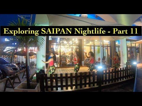 [4K] Exploring SAIPAN (Part 11) -  Saipan's Main City at Night (Garapan)