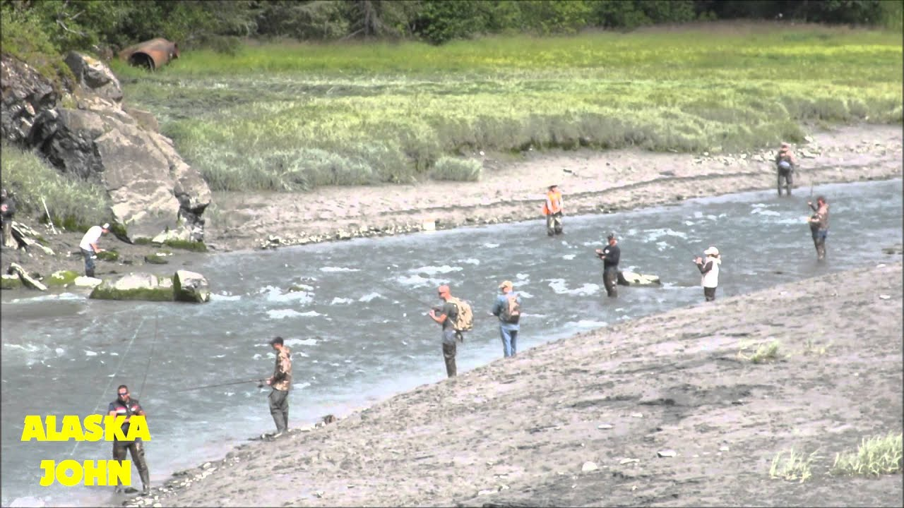 Bird creek alaska salmon fishing youtube for Salmon fishing anchorage