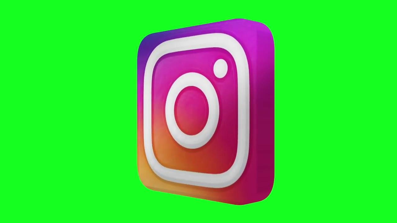 Logo Instagram Green Screen Bergerak Youtube Instagram Logo Greenscreen Instagram