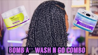 Wash N Go Killer Combo?? Deva Curl Super Stretch + Mane Choice Glaze #washngo