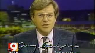 1988 Jerry Springer Bus Drivers Strike News Commentary clip