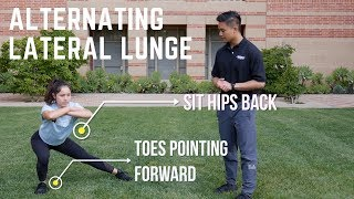 Exercise #3 - Alternating (ALT) Lateral Lunge