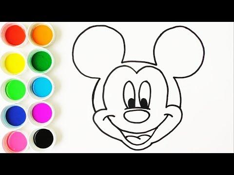 Dibuja Y Colorea Mickey Mouse Dibujos Para Niños Learn Colors