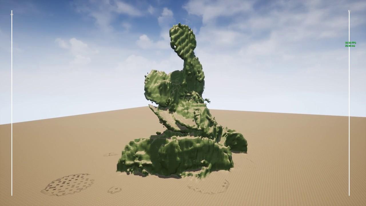 Unreal Engine 4 - Dynamic terrain