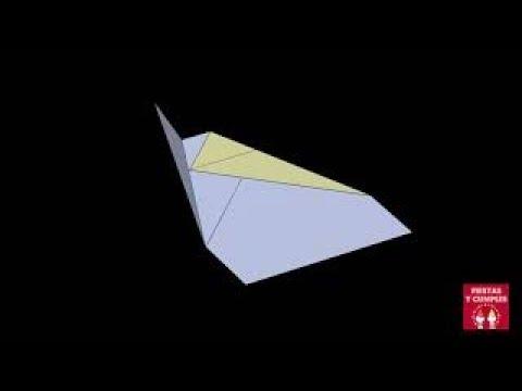 Avion de papel muy fácil de hacer que es planeador. Suzane