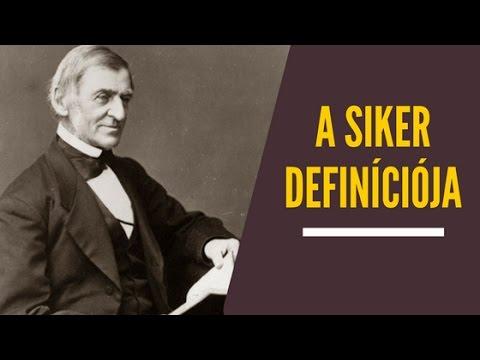 Ralph Waldo Emerson gondolatai a sikerről