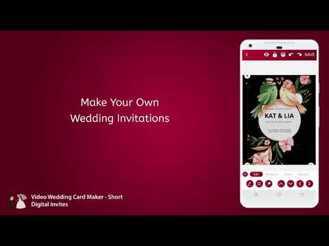 Video Wedding Card Maker - Short Digital Invites