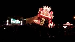 平成28年8月27日に開催された第40回沼田町夜高あんどん祭りの 様子。大...