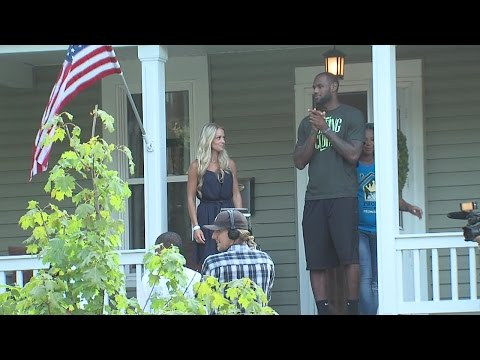 Lebron James Family Foundation turns over renovated home to Akron Family