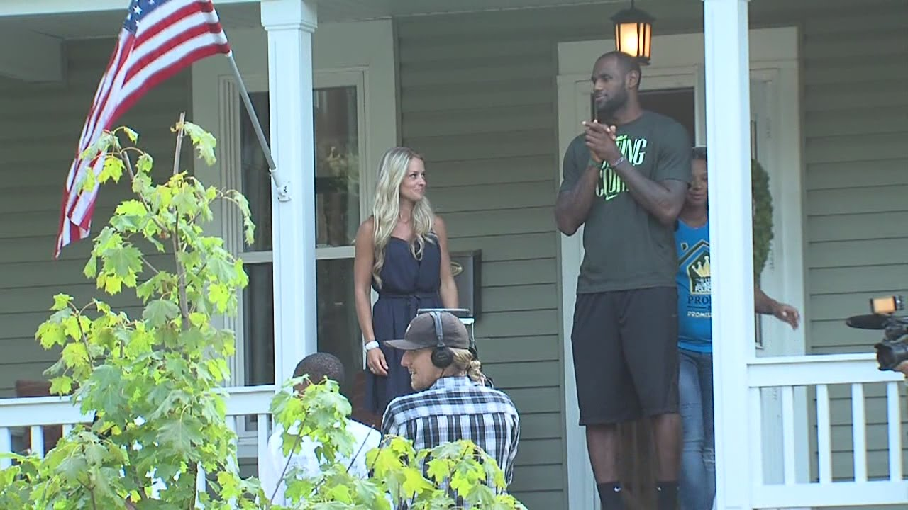 Lebron James Family Foundation Turns Over Renovated Home To Akron You