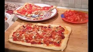 Домашняя пицца на тонком тесте