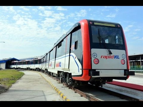 New Lrt Ampang Line Train Video Walkthrough Malaysia Public Transport Youtube