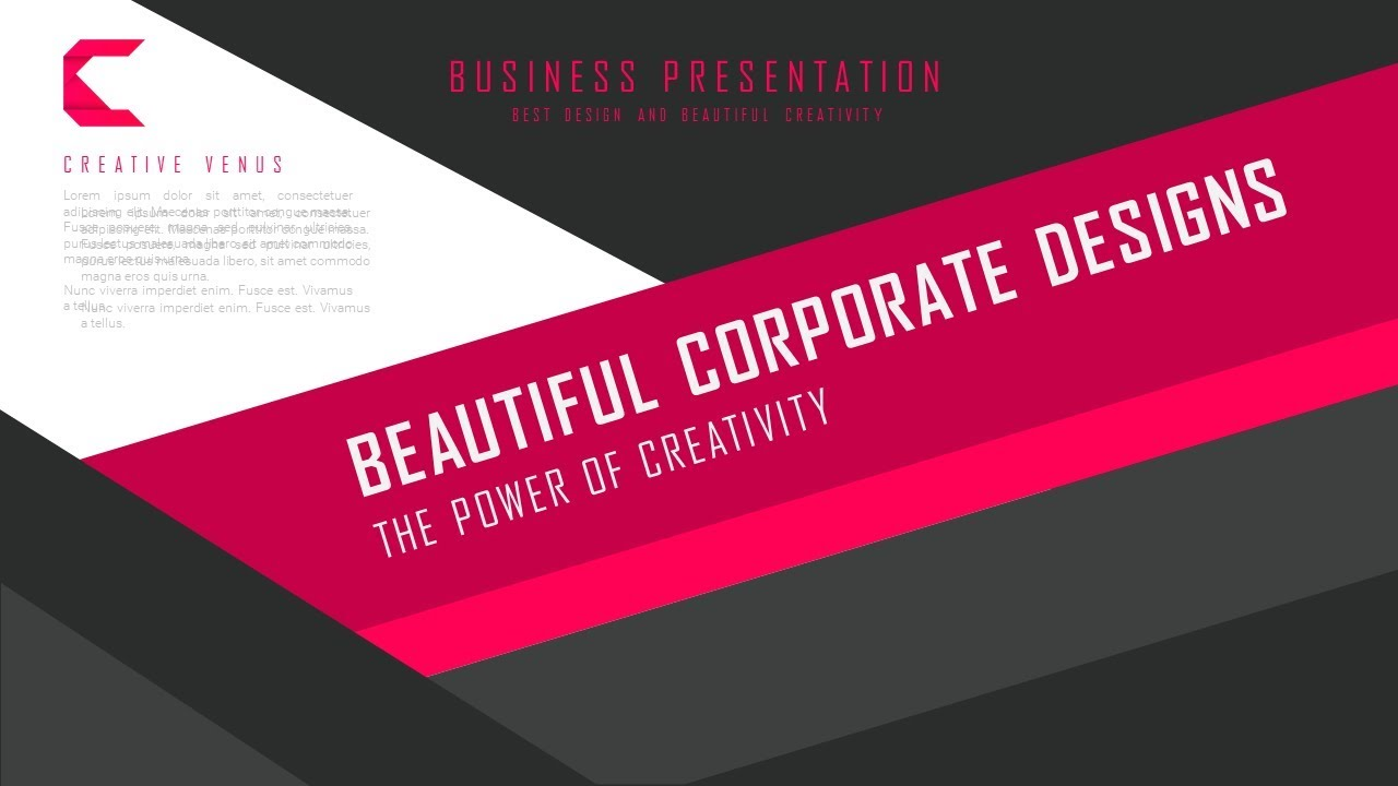 How To Create Material Design Theme Business Title Slide in ...