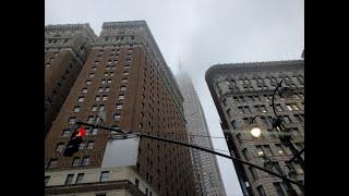 뉴욕 맨하탄 비오는날 엠파이어 스테이트 빌딩, 리틀이태…