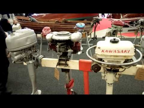 Outboard museum - at Helsinki boat fair 2017