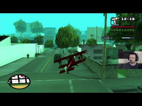 Grand Theft Auto: San Andreas HD playthrough pt62 - IT BEGINS! Prop Plane PAIN