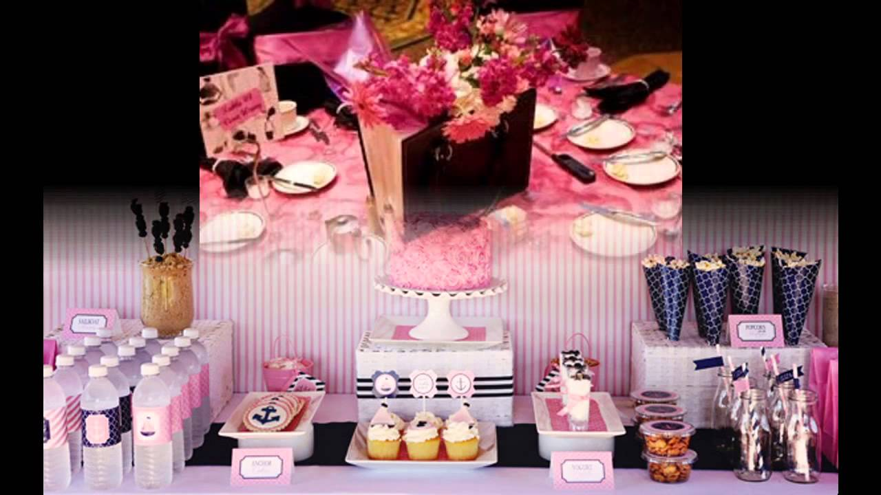 Sweet 16 party decorations ideas for girls - YouTube