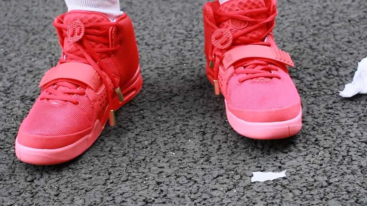 758d6f252e290 Flawless Kanye west fake air yeezy 2 Red October On Feet - YouTube