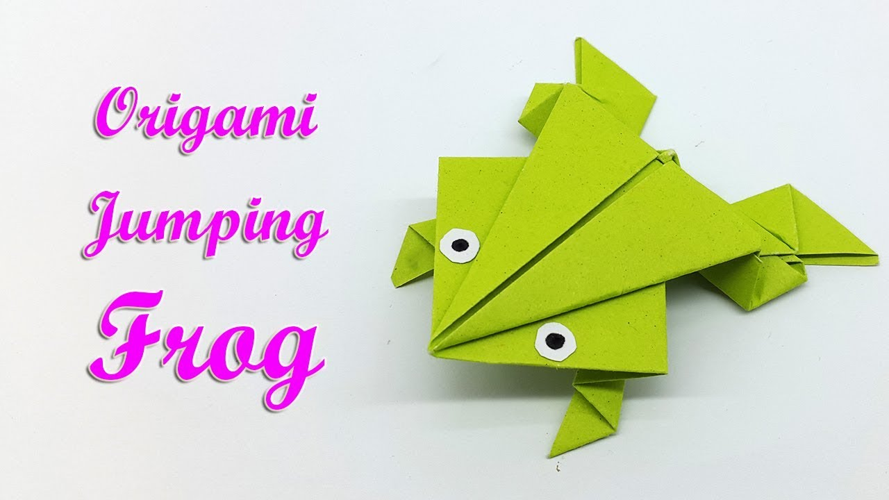 Origami frog that jumps easy how to make a paper frog step by origami frog that jumps easy how to make a paper frog step by step paper craft tutorial jeuxipadfo Images