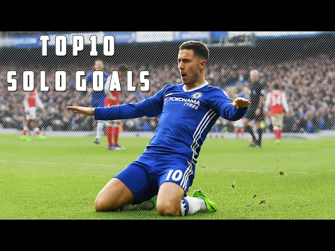 Top 10 Amazing Solo Goals in Football Ft Eden Hazard ,Lionel Messi, Arjen Robben