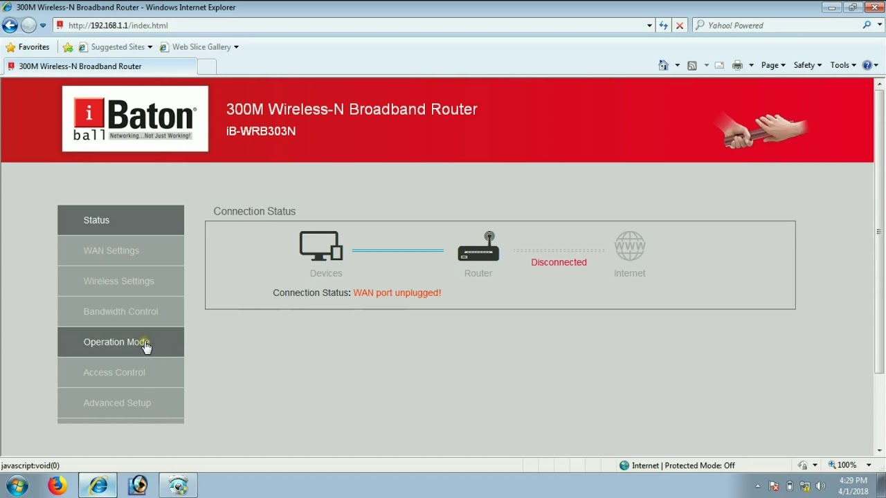 Jio wifi connect to i Ball baton router using wisp mode and connect pc / dvr