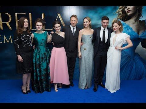Cinderella London Blue Carpet - Lily James, Richard Madden, Helena Bonham-Carter, Hayley Atwell