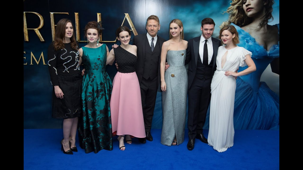 Cinderella London Blue Carpet - Lily James, Richard Madden ...