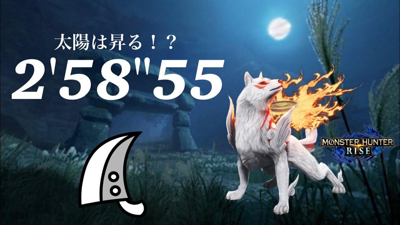 "MHRise 太陽は昇る!? 大剣ソロ 2'58""55 白き大神の絵21個の納品/Rising Sun!? Greatsword solo"