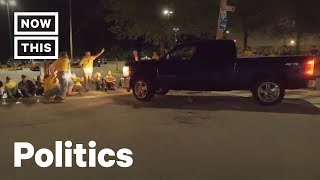 Truck Drives Into Anti-ICE Protesters Outside Rhode Island Detention Facility | NowThis